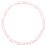 Facet armbanden top quality 4x3mm Peach pink opal-pearl shine coating