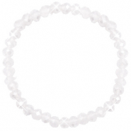Facet armbanden top quality 6x4mm White opal-pearl shine coating