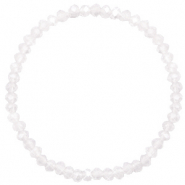 Facet armbanden top quality 4x3mm White opal-pearl shine coating