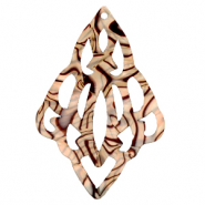 Hangers van Resin barok diamant Incense beige pearl