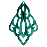Hangers van Resin barok diamant Ocean green
