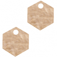 Hangers van Resin hexagon Light semolina beige