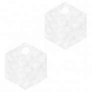 Hangers van Resin hexagon Bright white