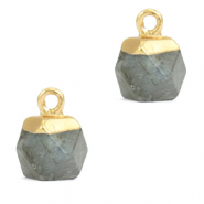 Hangers van natuursteen hexagon Fossil grey-gold