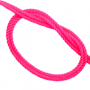 Geweven trendy koord Neon pink
