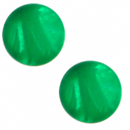 12 mm classic Polaris Elements cabochon Mosso shiny Bright green