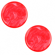 20 mm platte Polaris Elements cabochon Lively Flame scarlet red