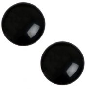 12 mm classic Polaris Elements cabochon shiny Jet black