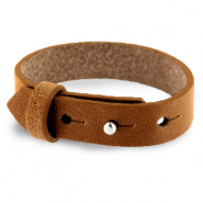 Armbanden Cuoio leer 15 mm voor 20 mm cabochon Saddle brown