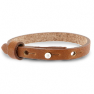 Armbanden Cuoio leer 8 mm voor 12 mm cabochon Saddle brown