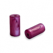 Schelp kralen tube Port red purple