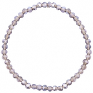 Facet armbanden top quality 4x3mm Greige purple-pearl shine coating