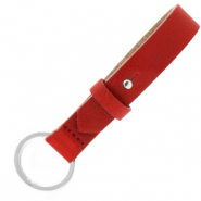 Cuoio leren sleutelhangers 15 mm Ruby red