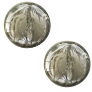 12 mm classic Polaris Elements cabochon soft tone shiny Chinois green