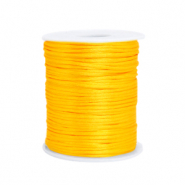 Draad van satijn 1.5mm Sunflower yellow