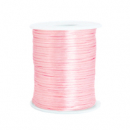 Draad van satijn 1.5mm Light rose