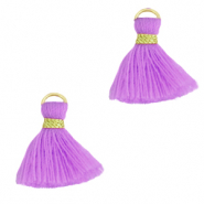 Kwastje 1.5cm Gold-light purple