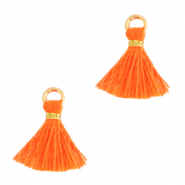 Kwastje 1cm Gold-neon orange