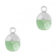Hangers van natuursteen Light green-silver