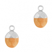 Hangers van natuursteen Rusty orange-silver