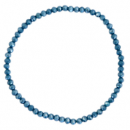 Facet armbanden top quality 3x2mm Peacoat blue-pearl shine coating