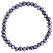 Facet armbanden top quality 6x4mm Grape purple-pearl shine coating