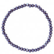 Facet armbanden top quality 4x3mm Grape purple-pearl shine coating