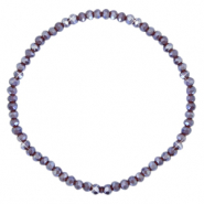 Facet armbanden top quality 3x2mm Grape purple-pearl shine coating