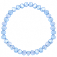 Facet armbanden top quality 6x4mm Lavender blue-pearl shine coating