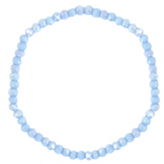 Facet armbanden top quality 4x3mm Lavender blue-pearl shine coating