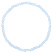 Facet armbanden top quality 3x2mm Ice blue-pearl shine coating