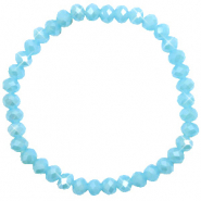Facet armbanden top quality 6x4mm Crystal blue-pearl shine coating