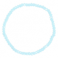 Facet armbanden top quality 3x2mm Crystal blue-pearl shine coating