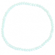 Facet armbanden top quality 3x2mm Clearwater blue-pearl shine coating