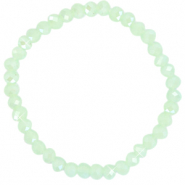 Facet armbanden top quality 6x4mm Paradise green-pearl shine coating