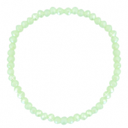 Facet armbanden top quality 4x3mm Paradise green-pearl shine coating