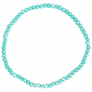Facet armbanden top quality 3x2mm Light teal green-pearl shine coating