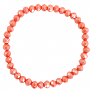 Facet armbanden top quality 6x4mm Fiery red-pearl shine coating