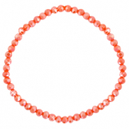 Facet armbanden top quality 4x3mm Fiery red-pearl shine coating