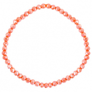 Facet armbanden top quality 4x3mm Spicy orange-pearl shine coating