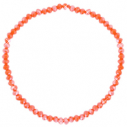 Facet armbanden top quality 3x2mm Spicy orange-pearl shine coating