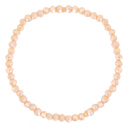 Facet armbanden top quality 4x3mm Peach orange-pearl shine coating