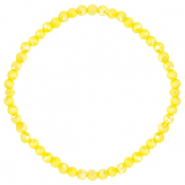 Facet armbanden top quality 4x3mm Blazing yellow-pearl shine coating