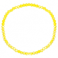 Facet armbanden top quality 3x2mm Blazing yellow-pearl shine coating