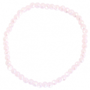 Facet armbanden top quality 4x3mm Cradle pink-pearl shine coating