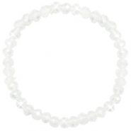 Facet armbanden top quality 6x4mm White-pearl shine coating