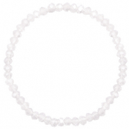 Facet armbanden top quality 4x3mm White-pearl shine coating