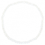 Facet armbanden top quality 3x2mm White-pearl shine coating