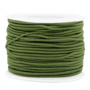 Gekleurd elastiek 2mm Olive green