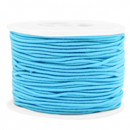 Gekleurd elastiek 1.5mm Light blue